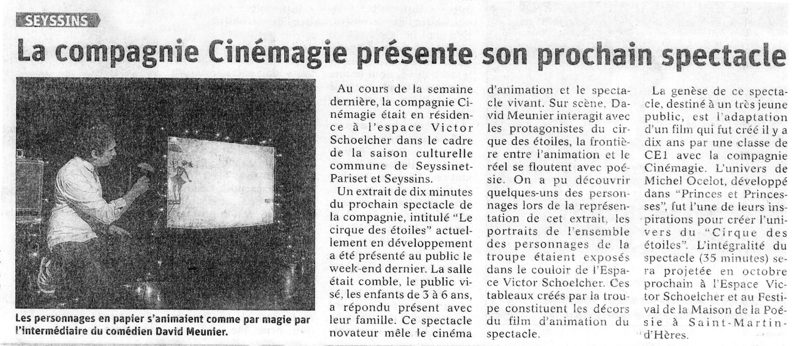 Revue de presse : Article Dauphine