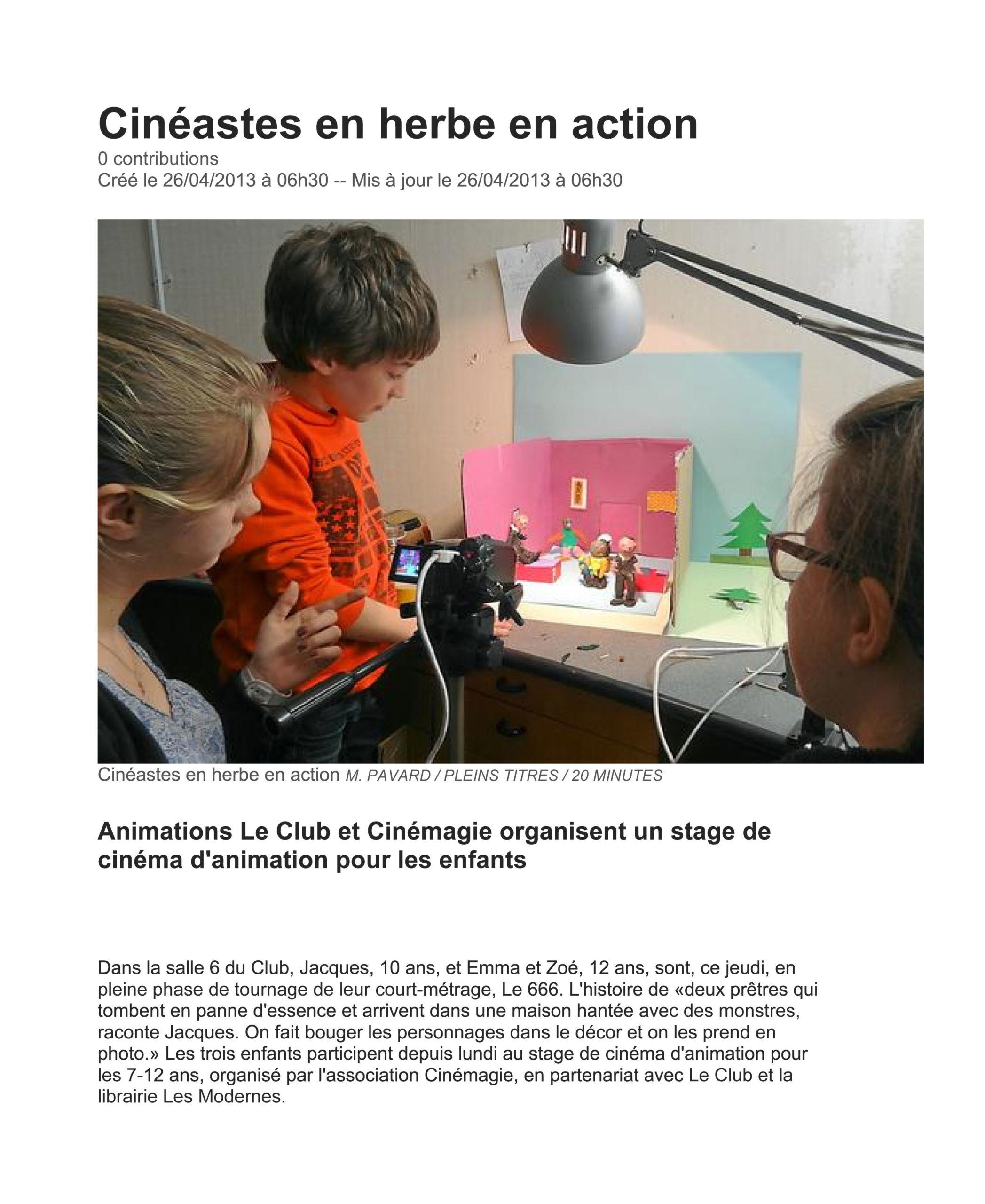 PRESSE Cinéma d'Animation